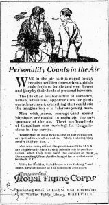 Ad for Royal Flying Corps