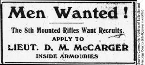 Men Wantred 8th Mounted Rifles