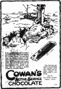 Ad for Cowan's chocolate