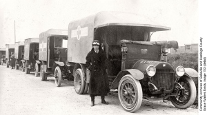Red Cross ambulances, ca. 1915