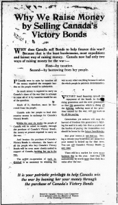 Ad for Canada Victory Bonds