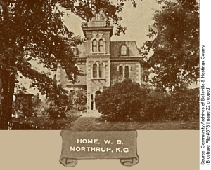Home of Mr. W.B. Northrup on Front Street North, Belleville