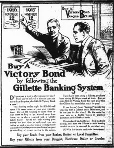 Ad for Gillette Banking System