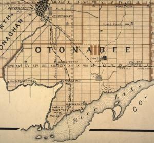 Map of Otonabee Township