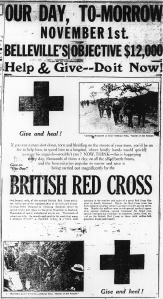 Poster for British Red Cross