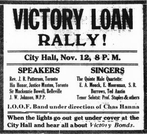 Poster for Victory Loan Rally