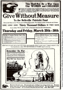 Give Without Measure (Intelligencer, 24 March 1915)