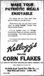 Ad for Kellogg's Corn Flakes
