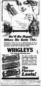 Ad for Wrigley's gum