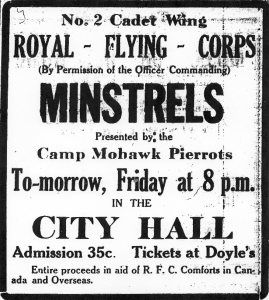 Ad for Camp Mohawk Pierrots