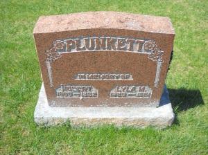Lylia Plunkett grave marker