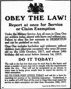 Poster for Military Service Act
