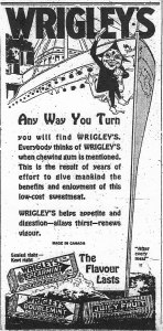 Ad for WRigley's gum