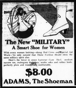 Ad for Adams, the Shoeman
