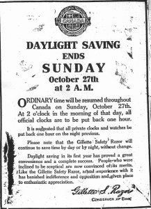 Ad for Gillette safety razor
