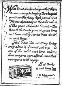 Ad for Red Rose Tea