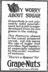 Ad for Grape Nuts