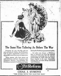 Ad for Fit-Reform clothes