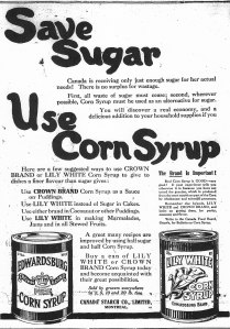 Ad for corn syrup