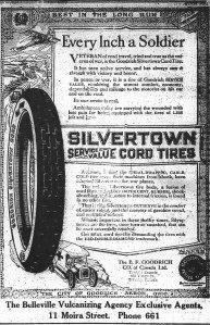 Advert for Goodrich Tires