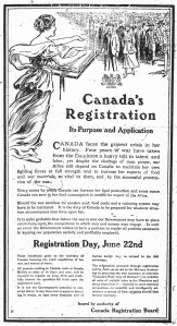 Poster for Canada's registration