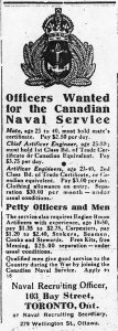 Poster for Canadian Naval Service