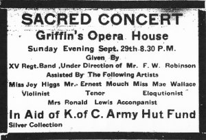 Ad for sacred concert