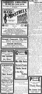 Theatre listings