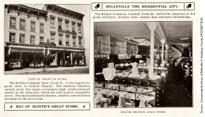 The Ritchie Company on Front Street, Belleville, exterior and interior views