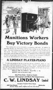 Ad for C. W. Lindsay Limited