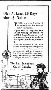 Bell Telephone notice