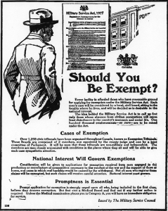 Poster on Military Exemption