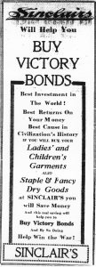 Sinclair's ad for Victory Bonds