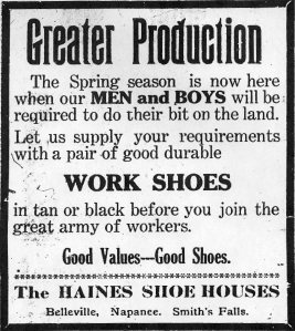 Ad for work shoes