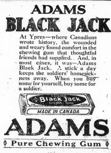 Ad for Adams Chewing Gum
