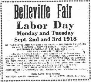 Poster for Belleville Fair