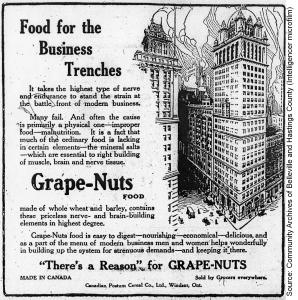 Grape Nuts advertisement