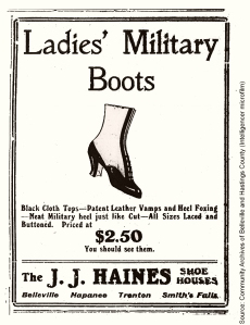 Ladies Military Boots advertisement