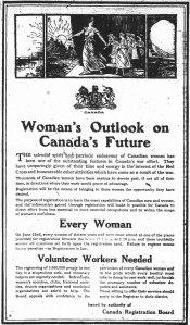 Poster for registration of women