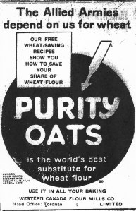 Ad for Purity Oats