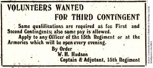 Volunteers Wanted ad
